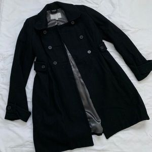 Old Navy black double breasted trench coat